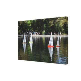 Conservatory Water Central Park Boat Pond New York Canvas Print