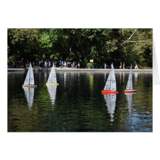 Conservatory Water Central Park Boat Pond New York Card