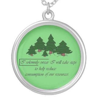 Conserve Round Pendant Necklace