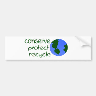 Conserve Protect Recycle Bumper Sticker