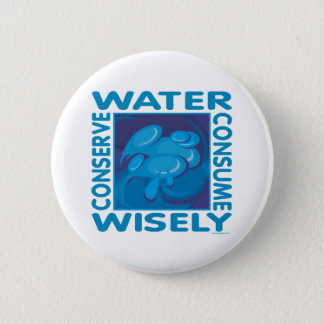 Conserve Water 2 Inch Round Button