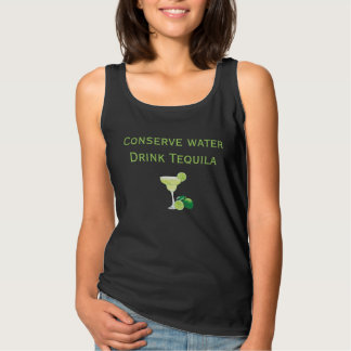 Conserve Water Drink Tequila Margarita Tank Top