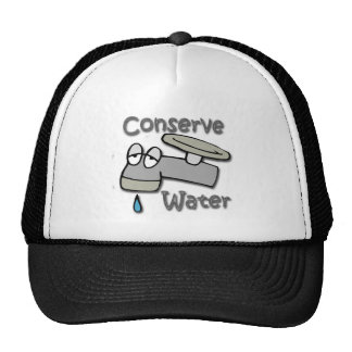 Conserve Water Drippy Faucet  gray Hat