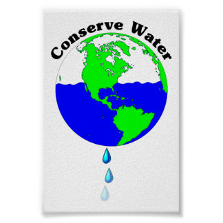 Conserve Water Poster
