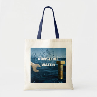 Conserve water tote bag