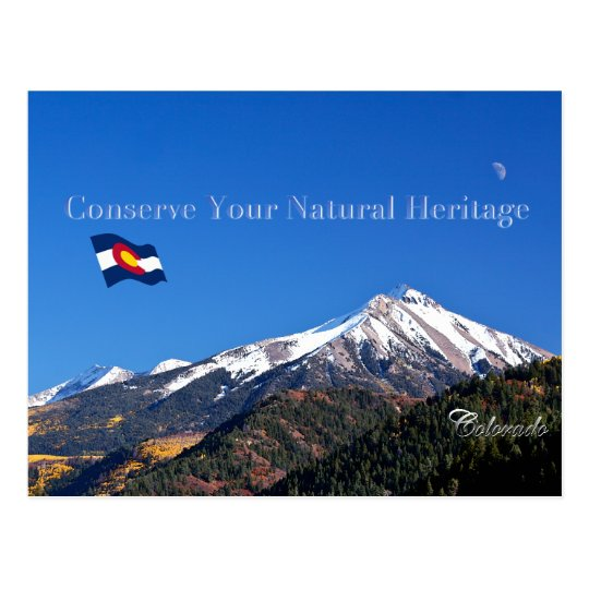 Conserve Your Natural Heritage Postcard
