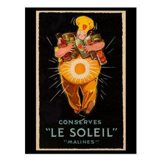 """Conserves: Le Soleil"" Vintage Advertising Postcard"