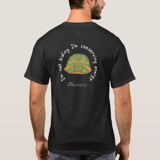 Conserving Energy Men's Black T (Design on Back) T-Shirt