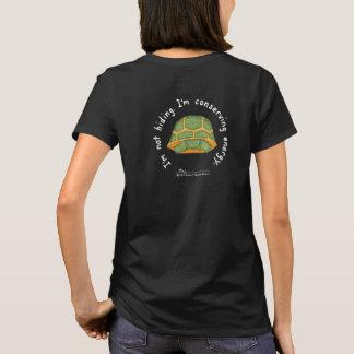 Conserving Energy Women's Black T (Design on Back) T-Shirt