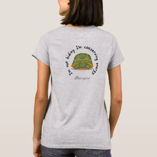 Conserving Energy W's Gry T-Shirt (Design on Back)