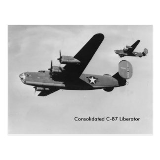 Consolidated C-87 Liberator WWII aircraft Postcard