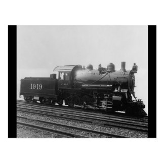 Consolidation 2-8-0 Vintage Steam EngineTrain Postcard