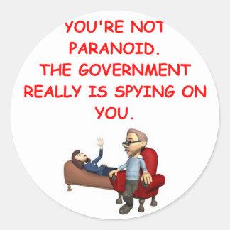 conspiracy classic round sticker