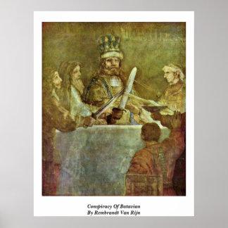 Conspiracy Of Batavian By Rembrandt Van Rijn Posters