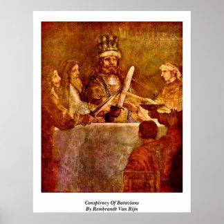 Conspiracy Of Batavians By Rembrandt Van Rijn Poster