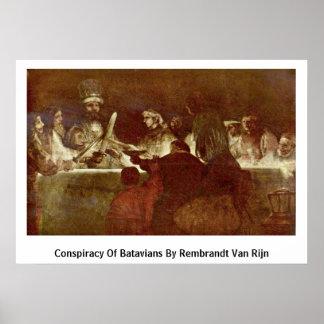 Conspiracy Of Batavians By Rembrandt Van Rijn Posters