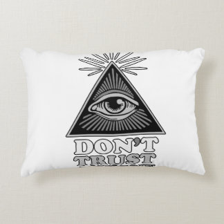 Conspiracy theory accent pillow