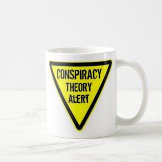 Conspiracy theory alert coffee mug