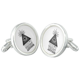 Conspiracy theory cufflinks