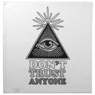 Conspiracy theory napkin