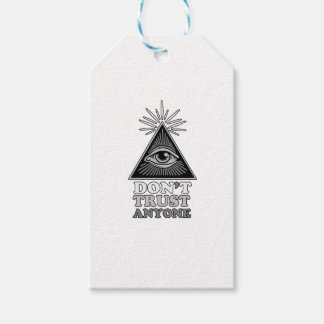Conspiracy theory pack of gift tags