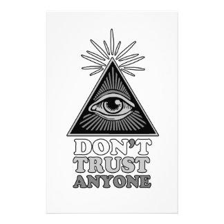 Conspiracy theory stationery
