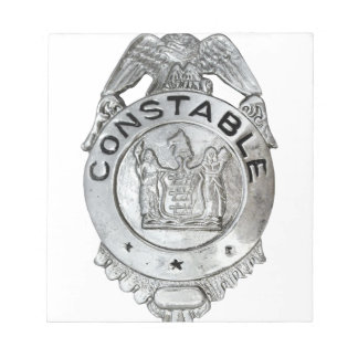 Constable Badge Notepad