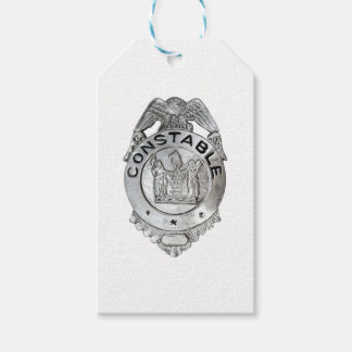 Constable Badge Pack Of Gift Tags