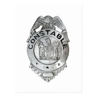 Constable Badge Postcard