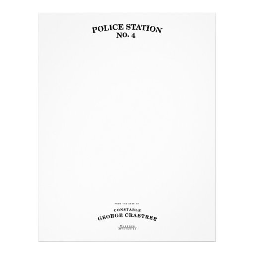 Constable Crabtree Stationery Personalized Letterhead