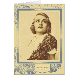 Constance Bennett portrait 1930s Card