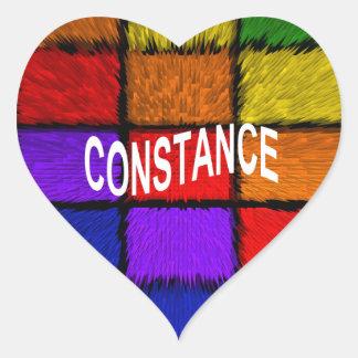 CONSTANCE HEART STICKER