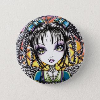 Constance Rainbow Angel 2 Inch Round Button