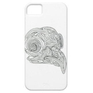 Constant line Bird Skull Case For The iPhone 5