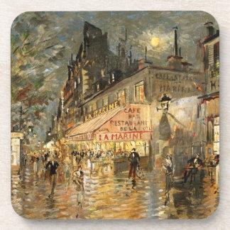 Constantin Korovin: Cafe La Marine, Paris Beverage Coasters