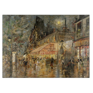 Constantin Korovin: Cafe La Marine, Paris Cutting Board