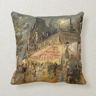 Constantin Korovin: Cafe La Marine, Paris Throw Pillow
