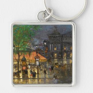 Constantin Korovin: Grand Opera, Paris Silver-Colored Square Keychain