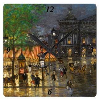 Constantin Korovin: Grand Opera, Paris Wall Clocks
