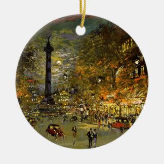 Constantin Korovin: The Square of Bastille, Paris Ceramic Ornament