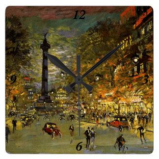 Constantin Korovin: The Square of Bastille, Paris Clocks