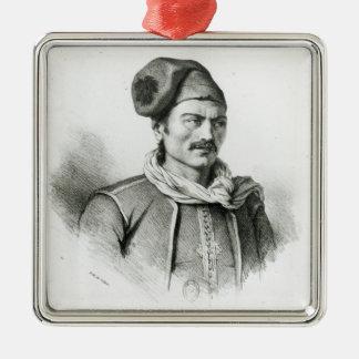 Constantine Kanaris Silver-Colored Square Ornament