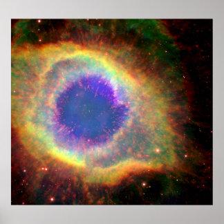Constellation Aquarius a Dying Star White Dwarf Poster