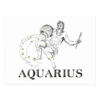 Constellation: Aquarius Postcard
