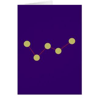Constellation Kassiopeia constellation Card