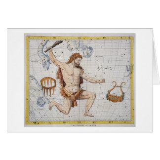 Constellation of Hercules with Corona and Lyra, pl Card