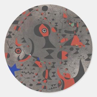 Constellation Toward the Rainbow Classic Round Sticker