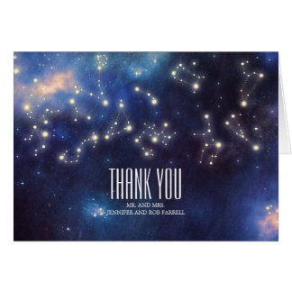 Constellation Wedding Thank You Card