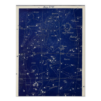 Constellations Orion Taurus and Aries + Poster