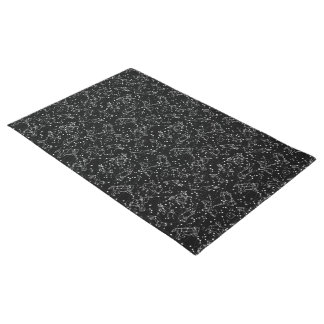 Constellations Zodiac / Black/White /Andrea Lauren Doormat